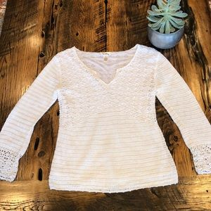Lilly Pulitzer White Crocheted Sweater